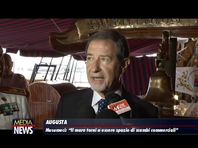 """Il presidente Musumeci ad Augusta: """"il mare torni a essere spazio di scambi commerciali"""""""