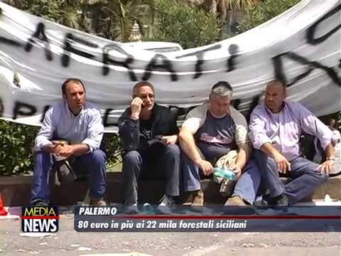 La regione Sicilia si è accordata per aumentare di 80 euro gli stipendi dei Forestali