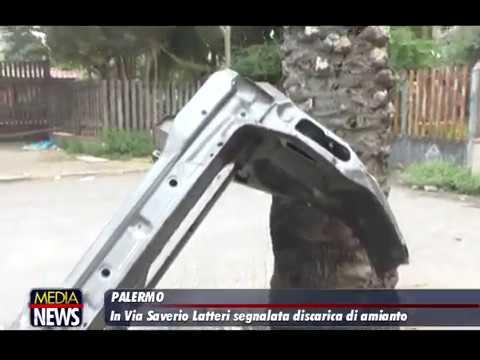 Palermo. In Via Saverio Latteri segnalata discarica di amianto, a rischio allievi dell'Ist. Scinà