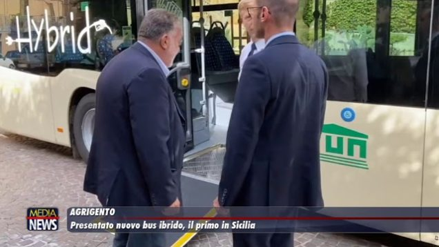 Agrigento, presentato nuovo bus ibrido, il primo in Sicilia