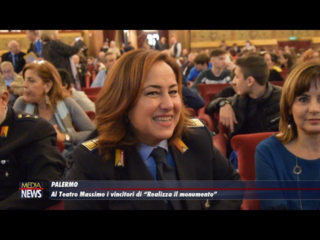 """Al Teatro Massimo di Palermo i vincitori di """"Realizza il monumento"""""""