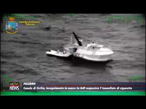 Canale di Sicilia, inseguimento in mare: la GdF sequestra 7 tonnellate di sigarette