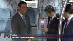 Catania. Consegnati 27 nuovi bus all'AMT