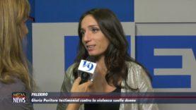 Gloria Peritore testimonial contro la violenza sulle donne