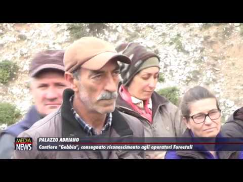"""Palazzo Adriano. Cantiere """"Gebbia"""", consegnato riconoscimento agli operatori forestali"""
