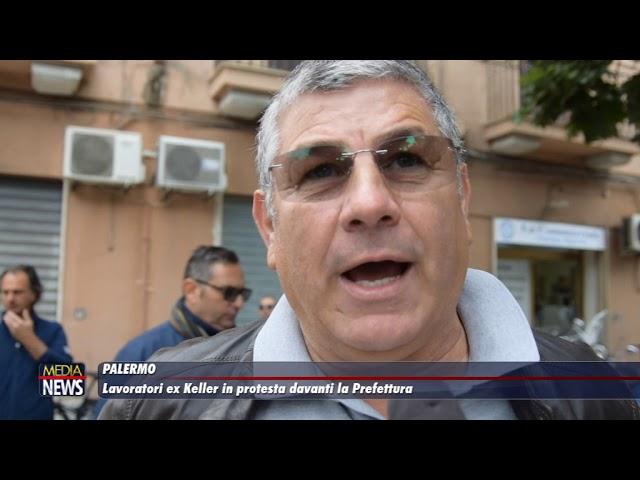 Palermo. Lavoratori ex Keller in protesta davanti la Prefettura