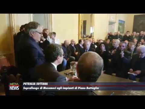 Petralia Sottana. Sopralluogo del presidente della Regione