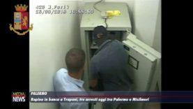 Rapina in banca a Trapani, tre arresti oggi fra Palermo e Misilmeri