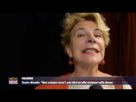 """Teatro Biondo. """"Una sciarpa rossa"""" per dire no alla violenza sulle donne"""
