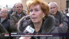 Dipendenti del LIbero consorzio dei comuni di Siracusa in protesta a Palermo