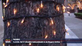 Festività, dal 21 dicembre pedonalizzazione h24 di via Ruggero Settimo