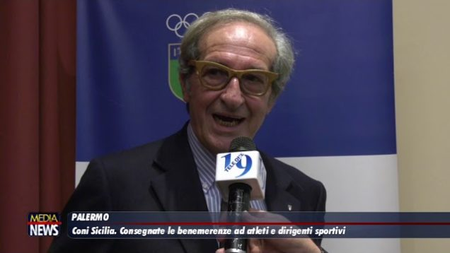 Il Coni Sicilia consegna le benemerenze ad atleti e dirigenti sportivi