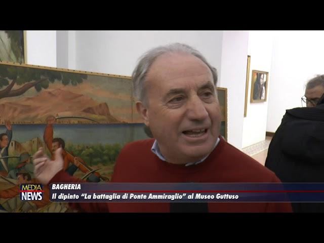 """Il dipinto """"La battaglia di Ponte Ammiraglio"""" al Museo Guttuso"""