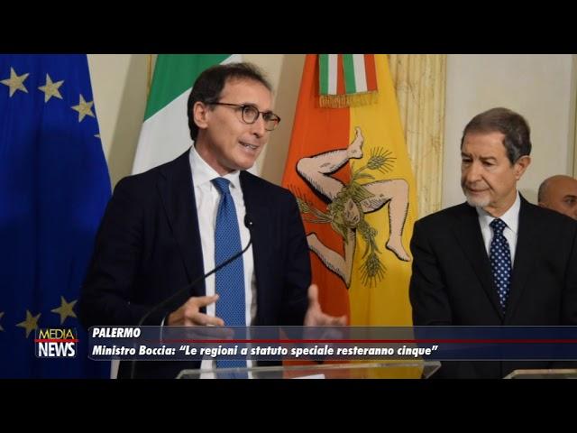 """Ministro Boccia: """"Le Regioni a Statuto Speciale resteranno cinque"""""""