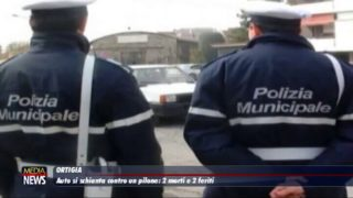 ORTIGIA. Auto si schianta contro un pilone: due morti e due feriti