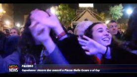 Palermo. Capodanno, stasera due concerti a Piazza Giulio Cesare e al Cep