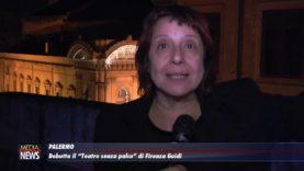 """Palermo. Debutta il """"Teatro senza palco"""" di Firenza Guidi"""