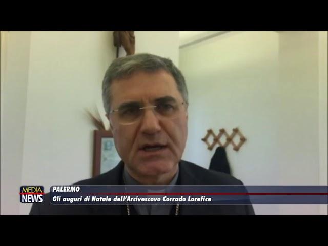 Palermo. Gli auguri di Natale dell'Arcivescovo Lorefice