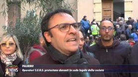 PALERMO. Gli operatori S.E.U.S. protestano davanti alla sede legale