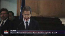 Palermo. Regione: Musumeci, Corte dei Conti conferma disastro finanziario
