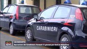 A Caltanissetta i Carabinieri arrestano 11 giovani per furti in abitazione