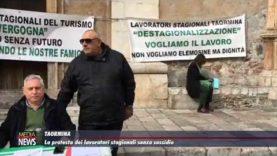 A Taormina la protesta dei lavoratori stagionali
