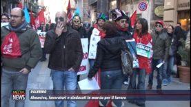 Almaviva, lavoratori e sindacati in marcia per il lavoro