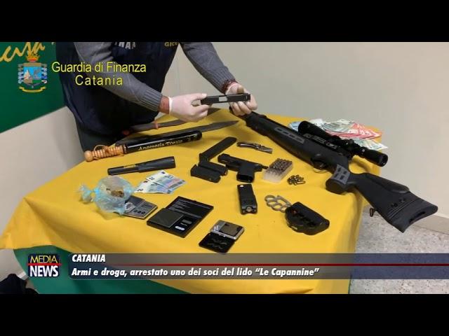 """Catania. Armi e droga: arrestato uno dei soci del lido """"La Capannina"""""""