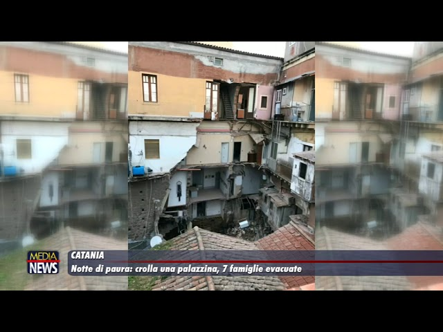Catania. Crolla una palazzina, 7 famiglie evacuate