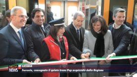 Catania. Ferrovie, consegnato il quinto treno Pop acquistato dalla Regione