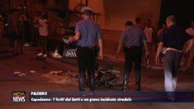 Palermo. Capodanno: 7 feriti dai botti e un grave incidente stradale