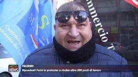 """Palermo. Dipendenti """" Fortè"""" in protesta. A rischio oltre 500 posti di lavoro"""