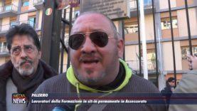 Palermo. I lavoratori della Formazione in sit-in dinnanzi la sede dell'Assessorato