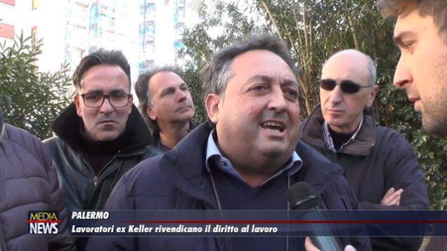 Palermo. Lavoro. Sit-in dei lavoratori Ex Keller