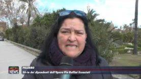 Palermo. Sit-in dei dipendenti dell'Opera Pia Ruffini licenziati