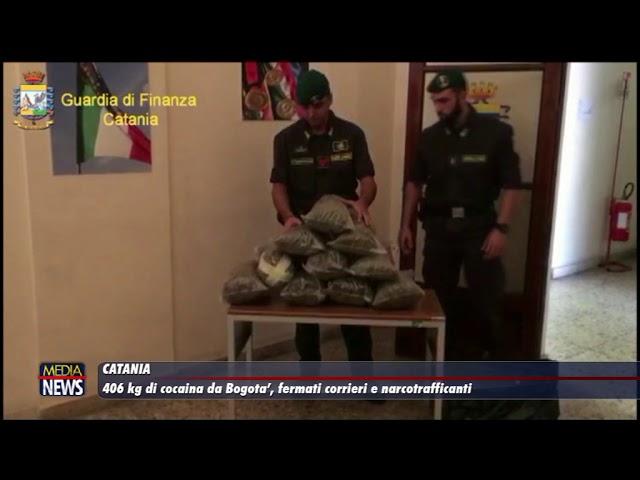Catania. 406 chili di cocaina da Bogotà, fermati corrieri e narcotrafficanti