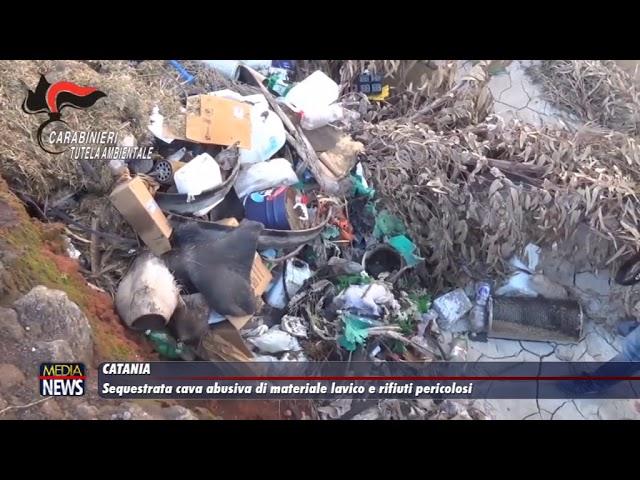 Catania. Sequestrata cava abusiva di materiale lavico e rifiuti speciali pericolosi