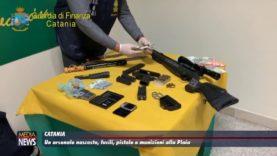 Catania. Un arsenale nascosto, fucili, pistole e munizioni alla Plaia