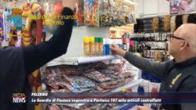 GdF. Maxi sequestro in un grande magazzino cinese a Partinico, 107 mila articoli contrafatti