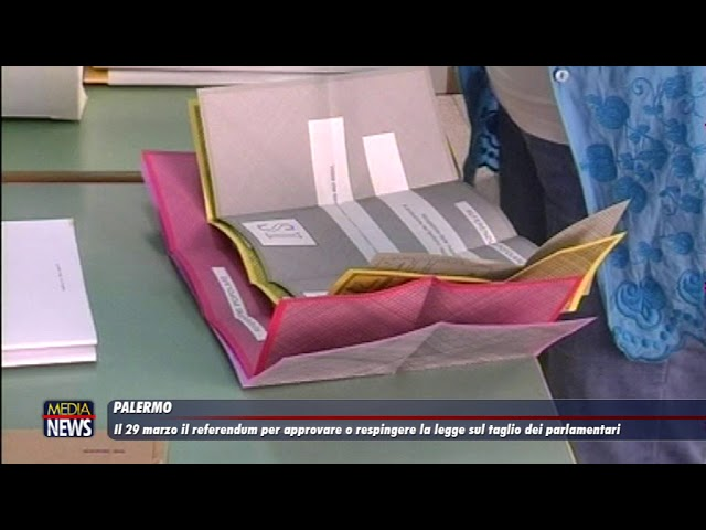 Il 29 marzo il referendum per approvare o respingere il taglio dei parlamentari