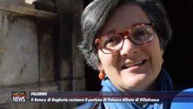 Il Rotary di Bagheria restaura il portone di Palazzo Alliata di Villafranca a Palermo