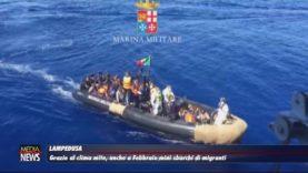 Lampedusa. Clima mite, mini sbarchi di migranti anche a febbraio