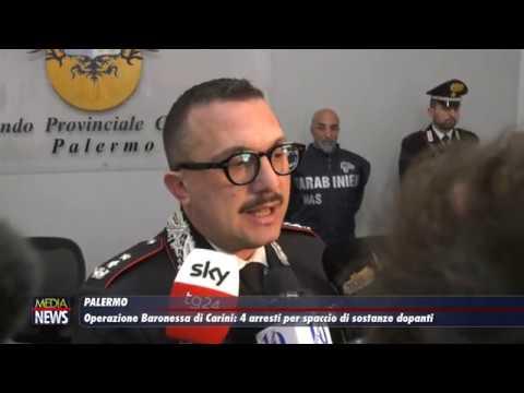 Operazione Baronessa di Carini: 4 arresti per spaccio di sostanze dopanti