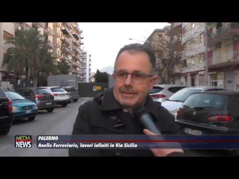 Palermo. Anello Ferroviario, lavori infiniti in Via Sicilia