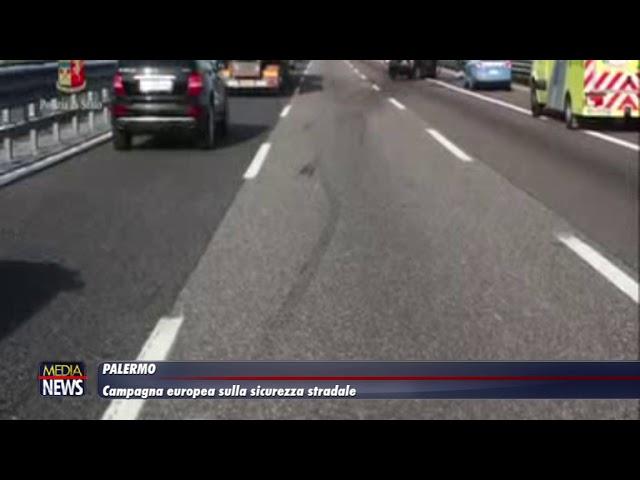 """Palermo. Campagna europea sulla sicurezza stradale """"TRUCK AND BUS"""""""