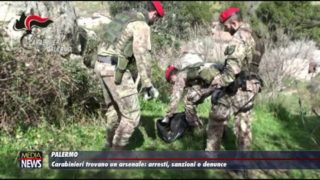 Palermo. Carabinieri trovano un arsenale: arresti, sanzioni e denunce