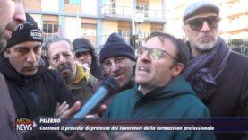 Palermo. Continua il presidio dei lavoratori della formazione professionale