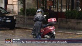 Palermo. Maltempo, dopo il caldo record in arrivo il freddo artico
