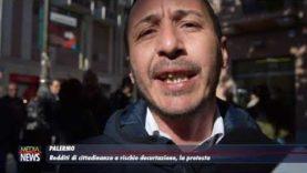 Palermo. Protesta davanti la Prefettura di alcuni percettori di reddito di cittadinanza