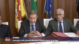 Palermo. Protezione civile, governo Musumeci finanzia nuove vie di fuga
